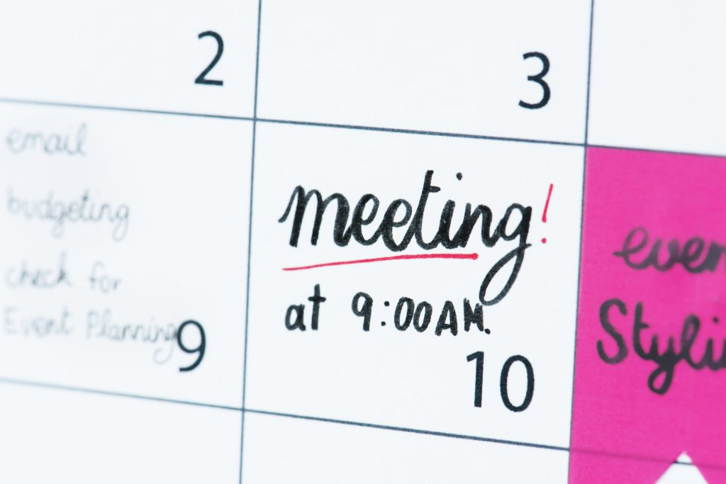 Setting the right schedule is very important for consistent and regular one on one meetings