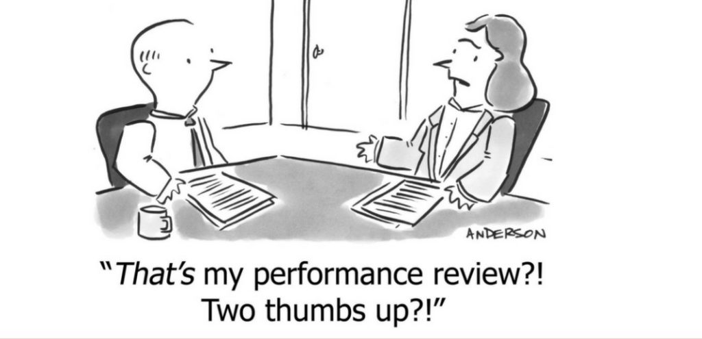 1 on 1 meeting more than a performance review meeting, where a manager gets and gives feedback