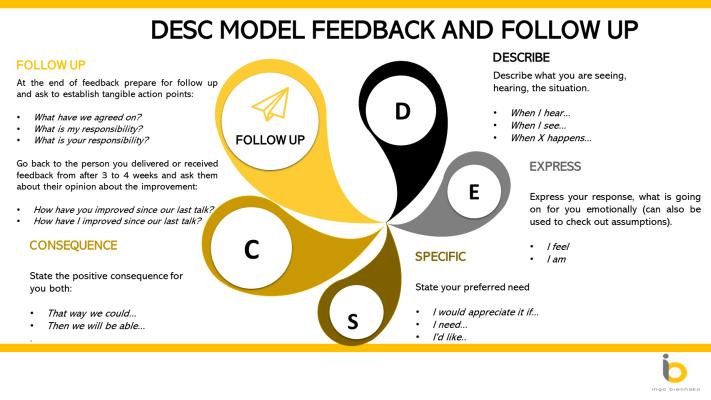 DESC model for constructive criticism