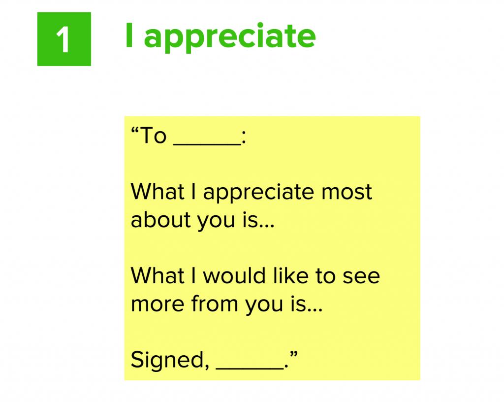I appreciate feedback model