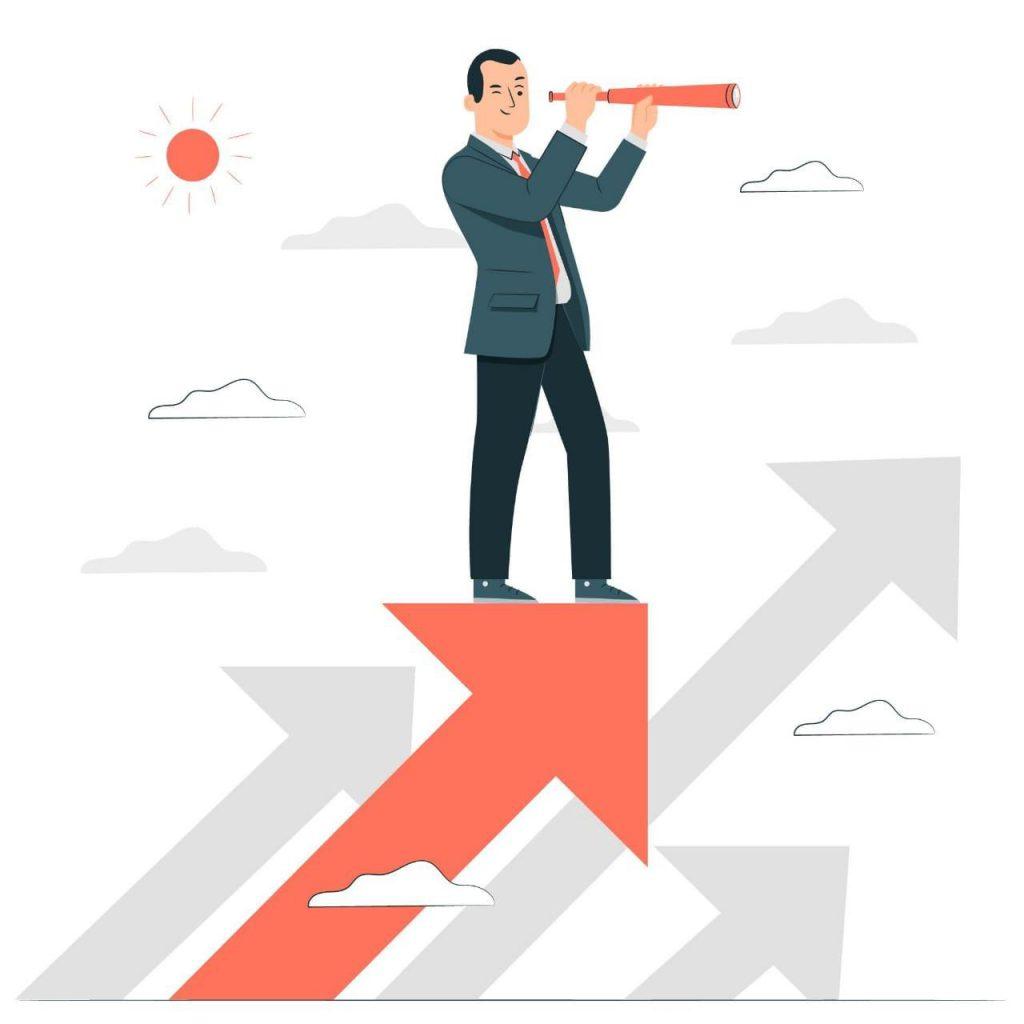 Manger analyzing employees performance
